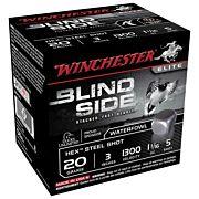 "WIN AMMO BLIND SIDE STEEL 20GA 3"" 1300FPS 1-1/16OZ #5HEX 25P"