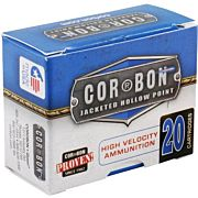 CORBON AMMO 9MM LUGER+P 90GR. JHP 20-PACK