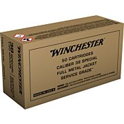 WIN AMMO SERVICE GRADE .38 SPECIAL 130GR. FMJ-RN 50-PACK