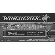 WIN AMMO SUPER SUPRESSED .45ACP 230GR. FMJE 50-PACK