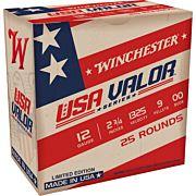 "WIN AMMO USA VALOR 12GA. 2.75"" 00BK 9-PELLETS 25-PACK"