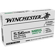 WIN AMMO USA 5.56X45/223 REM 62GR. GREEN TIP 20-PACK