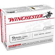 WIN AMMO USA 9MM LUGER 115GR. FMJ 100-VALUE PACK