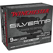 WIN AMMO SUPER-X 9MM LUGER 115GR. SILVERTIP HP 20-PACK