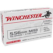 WIN AMMO USA 5.56X45 55GR. FMJ 20-PACK
