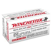 WIN AMMO WILDCAT .22LR 1255FPS. 40GR. LEAD-RN 50-PACK