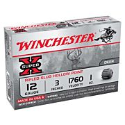 "WIN AMMO SUPER-X SLUGS 12GA. 3"" 1760FPS. 1OZ. RIFLED 5-PACK"