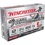 "WIN AMMO DEER SEASON SLUGS 12GA. 2.75"" 1600FPS 1.25OZ 5PK"