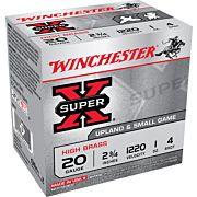 "WIN AMMO SUPER-X 20GA. 2.75"" 1220FPS. 1OZ. #4 25-PACK"