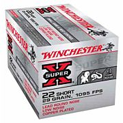 WIN AMMO SUPER-X .22 SHORT 1095FPS. 29GR. LEAD RN 50-PACK