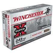 WIN AMMO SUPER-X .243 WIN. 100GR. POWER POINT 20-PACK