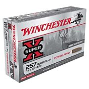 WIN AMMO SUPER-X .257 ROBERTS +P 117GR. POWER POINT 20-PACK