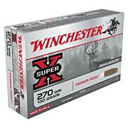 WIN AMMO SUPER-X .270 WIN. 130GR. POWER POINT 20-PACK