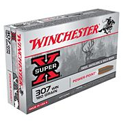WIN AMMO SUPER-X .307 WIN. 180GR. POWER POINT 20-PACK
