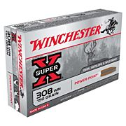 WIN AMMO SUPER-X .308 WIN. 150GR. POWER POINT 20-PACK