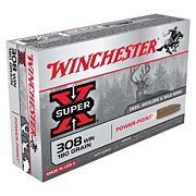 WIN AMMO SUPER-X .308 WIN. 180GR. POWER POINT 20-PACK