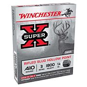 "WIN AMMO SUPER-X SLUGS .410 3"" 1800FPS. 1/4OZ. RIFLED 5-PACK"