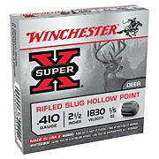 "WIN AMMO SUPER-X SLUGS .410 2.5"" 1830FPS. 1/5OZ. 5-PACK"