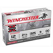 "WIN AMMO SUPER-X 12GA. 2.75"" 1325FPS. 00BK 9-PELLETS 5-PACK"