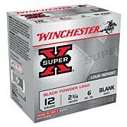 "WIN BLANKS 12GA. 2 3/4"" BLACK POWDER BLANKS 25-PACK"