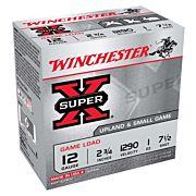 "WIN AMMO SUPER-X 12GA. 2.75"" 1290FPS. 1OZ. #7.5 25-PACK"