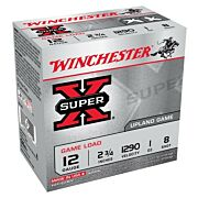 "WIN AMMO SUPER-X 12GA. 2.75"" 1290FPS. 1OZ. #8 25-PACK"