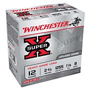 "WIN AMMO SUPER-X 12GA. 2.75"" 1255FPS. 1-1/8OZ. #8 25-PACK"