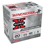 "WIN AMMO SUPER-X 20GA. 2.75"" 1165FPS. 1OZ. #8 25-PACK"