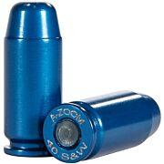 A-ZOOM METAL SNAP CAP BLUE .40SW 10-PACK
