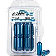 A-ZOOM METAL SNAP CAP BLUE .45ACP 10-PACK