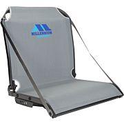 MILLENNIUM B100 BOAT SEAT W/ ARM REST STRAPS GRAY