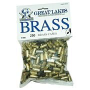 GREAT LAKES BRASS 9MM LUGER ONCE FIRED 250CT