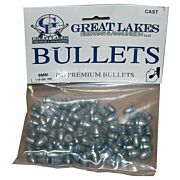 GREAT LAKES BULLETS 9MM .356 115GR. LEAD-RN 100CT