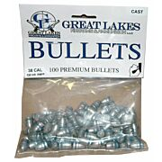 GREAT LAKES BULLETS .38/.357 .358 130GR. LEAD-RNFP 100CT