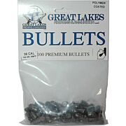 GREAT LAKES BULLETS .38/.357 .358 130GR LEAD-RNFP POLY 100