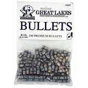 GREAT LAKES BULLETS .38/.357 .358 158GR. LEAD-RNFP 100CT