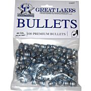 GREAT LAKES BULLETS .44 CAL. .430 200GR. LEAD-RNFP 100CT