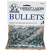 GREAT LAKES BULLETS .45ACP .452 185GR. LEAD-SWC 100CT