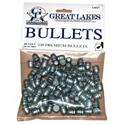 GREAT LAKES BULLETS .45LC .452 250GR. LEAD-RNFP 100CT