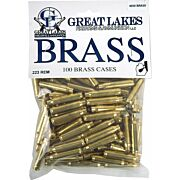 GREAT LAKES BRASS .223 REM NEW 100CT