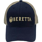 BERETTA CAP TRUCKER L.PROFILE COTTON MESH BACK NAVY BLUE