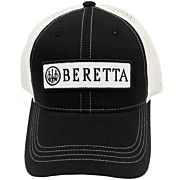 BERETTA CAP TRUCKER W/PATCH COTTON MESH BACK BLACK