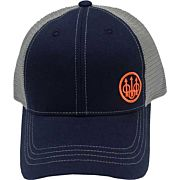 BERETTA CAP TRUCKER W/OFFSET LOGO COTTON MESH BACK NAVY