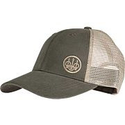 BERETTA CAP TRUCKER W/OFFSET LOGO COTTON MESH BACK OD GREEN