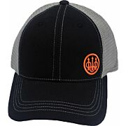 BERETTA CAP TRUCKER W/OFFSET LOGO COTTON MESH BACK BLK/GRAY
