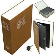 BULLDOG DIVERSION BOOK SAFE BROWN 3 WHEEL COMBINATION LOCK