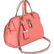 BULLDOG CONCEALED CARRY PURSE SATCHEL CORAL