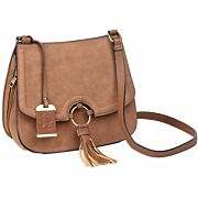 BULLDOG CONCEALED CARRY PURSE CROSS BODY CARAMEL SUEDE