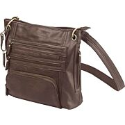 BULLDOG CONCEALED CARRY PURSE LARGE CROSS BODY CHOCOLATE BRN