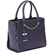 BULLDOG CONCEALED CARRY PURSE QUILTED TOTE STYLE NAVY
